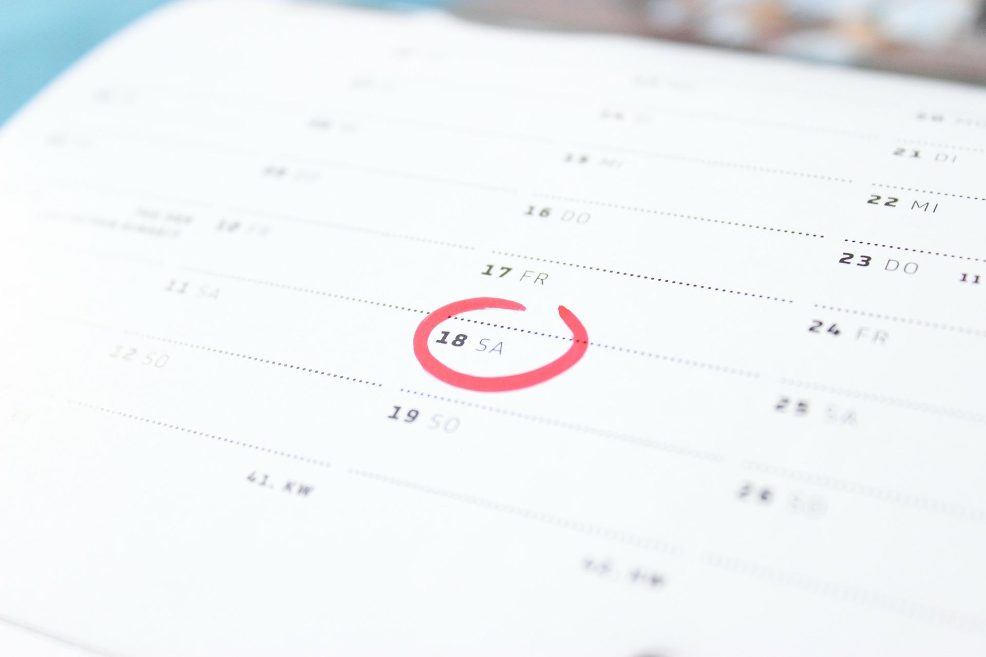 Agenda pour les événements et les actualités UNA