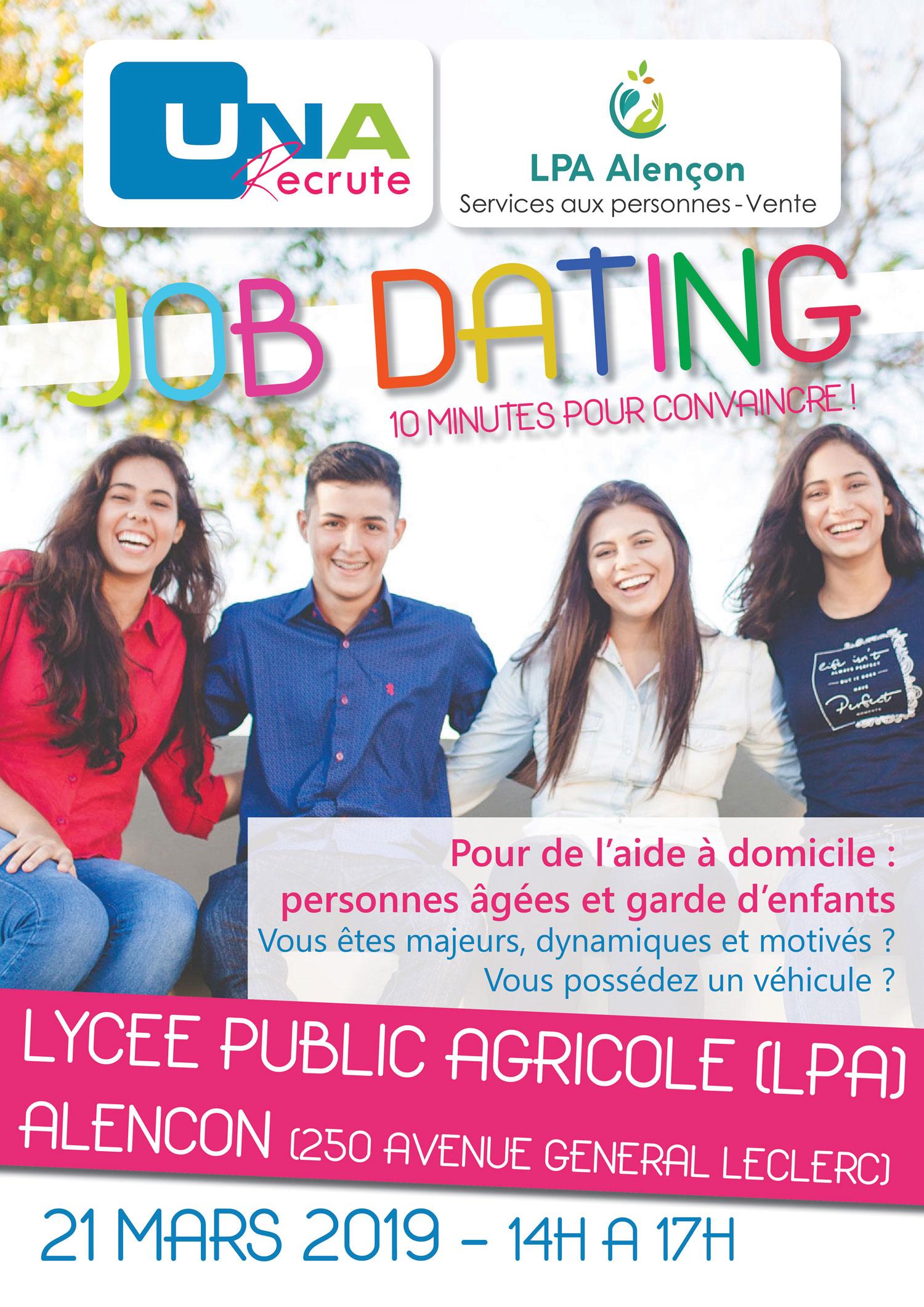 Job dating alençon, le 21 mars 2019 au lycée Public Agricole de l'Orne