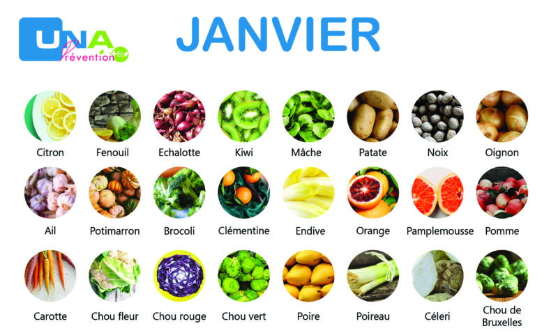 Fruits et légumes de saison de janvier