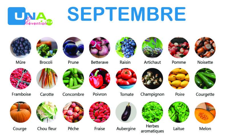 Fruits et légumes de saison de septembre